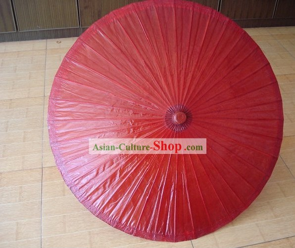 Traditional Chinese Double People Size Lucky Red Wedding Umbrella