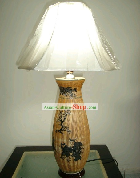 Chinese Classic Jing De Zhen Ceramic Reading Lamp