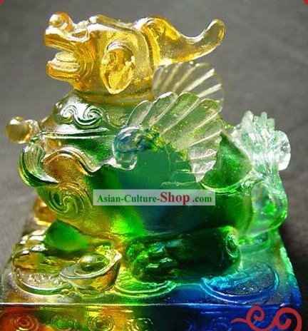 Chinese Classic Colored Glaze Pi Xiu Statue (good luck and safe)