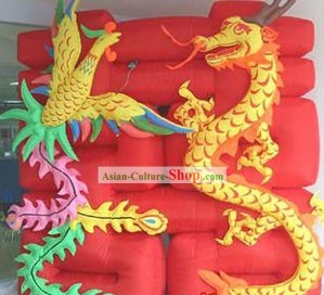Wedding Celebration Inflatable Dragon and Phoenix Double Happiness
