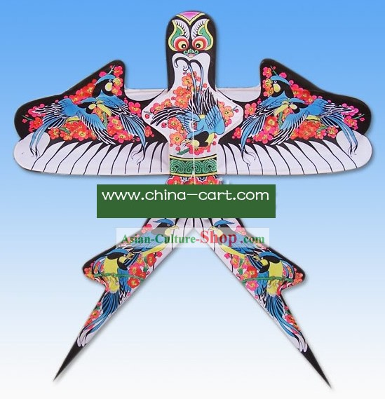 Chinese Classical Hand Painted and Made Swallow Kite - Birds Playing with Plum