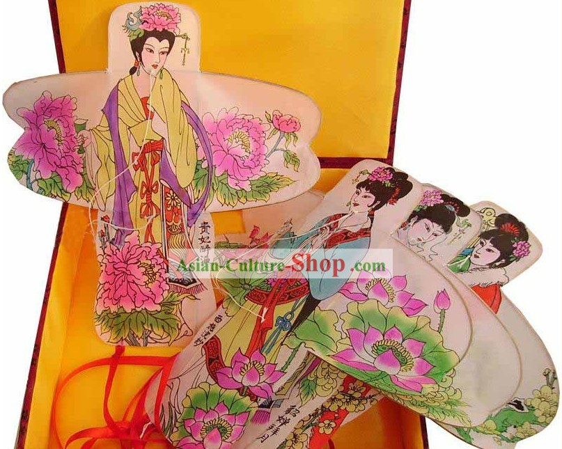Chinese Classical Hand Painted Kite - Ancient Most Beautiful Four Beauties