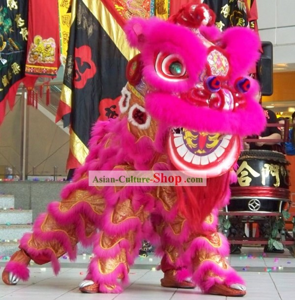 LUMINOUS Traditional Kung Fu Martial Arts Lion Dance Costumes Complete Set