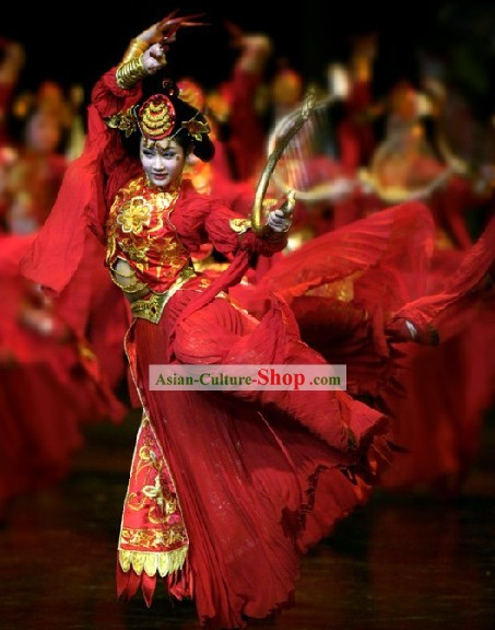 Chinese Classic Ancient Palace Dance Costumes Complete Set