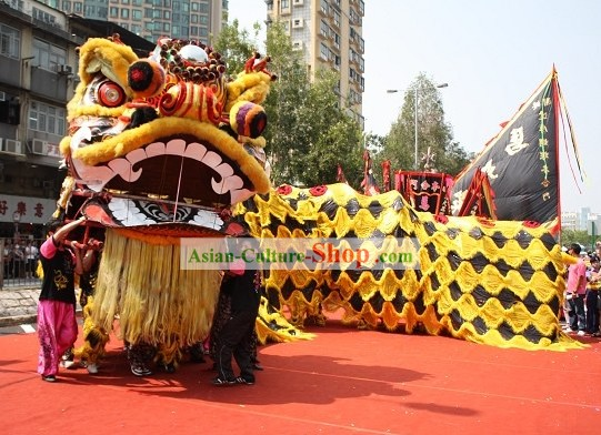 Super Large Lion Dance Costumes Complete Set for Display and Parade