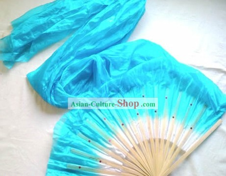 Plain Color Chinese Long Silk Fan