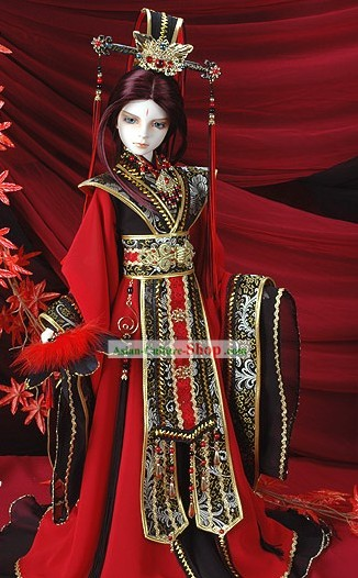 Chinese Ancient Prince Costume and Crown Complete Set
