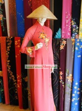 Thailand Minority Costume and Bamboo Hat Complete Set