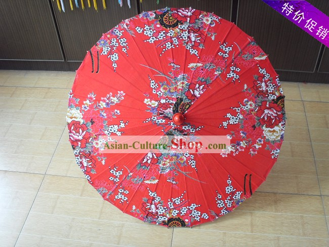 Chinese Hand Made Lucky Red Wedding Umbrella