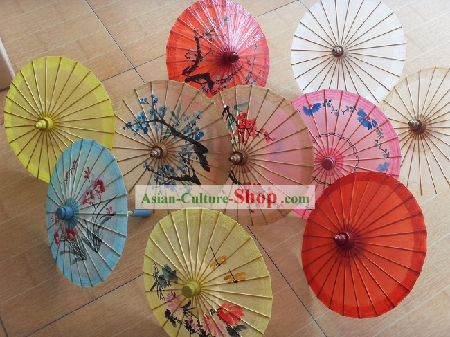 Chinese Handmade Desk Top Display Paper Umbrella