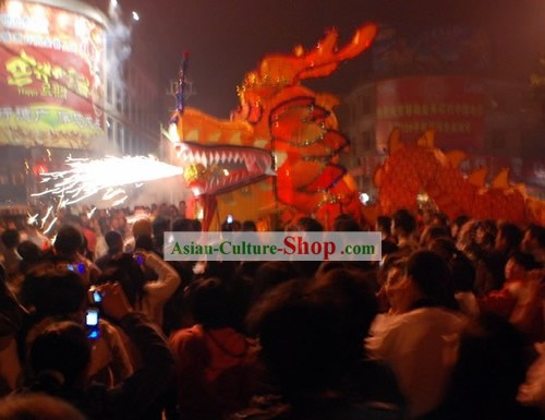 300 Feet Length Super Large Dragon Dance Costume Complete Set