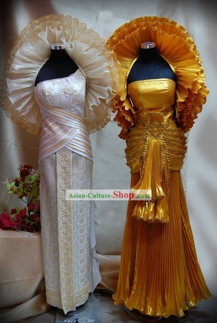 Traditional Thai Costumes Complete Set
