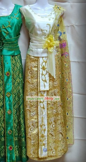 Traditional Asia Thai Court Dress Complete Set