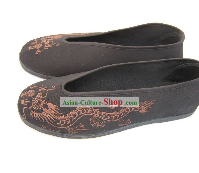 Chinese Traditional Dragon Men Shoes