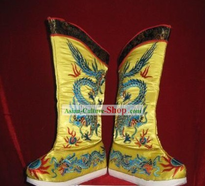 Ancient Style China Emperor Qing Dynasty Shoes