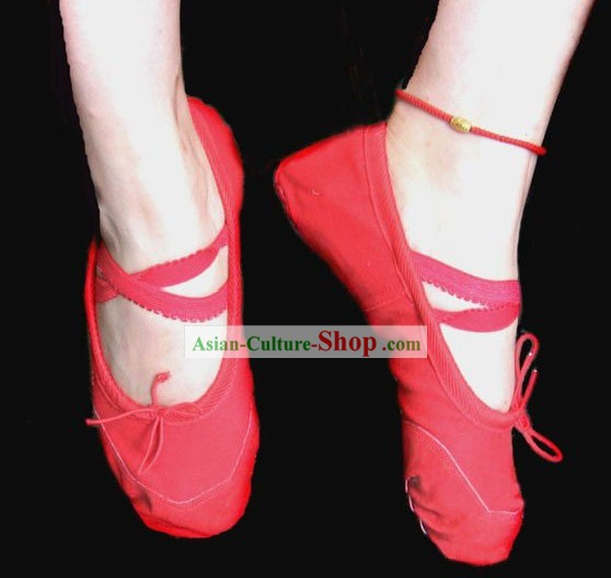 Traditional Red Ballet Shoes