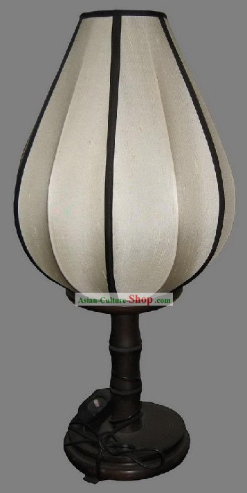 Electrified White Chinese Lanterns/Tulip Desk Palace Lantern
