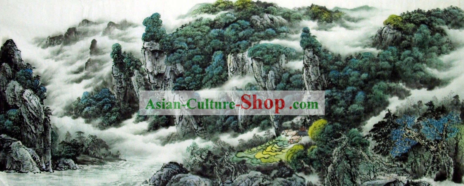 Chinese Landscape Painting - Guilin Scene