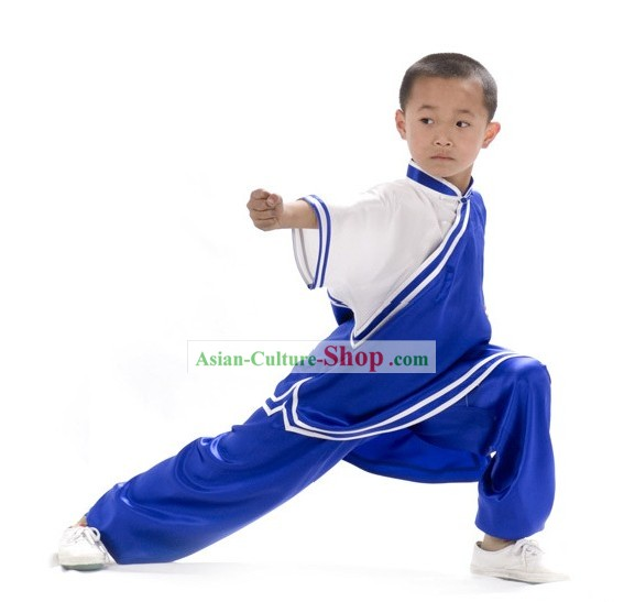 Chinese Professional Silk Kung Fu Uniform for Children