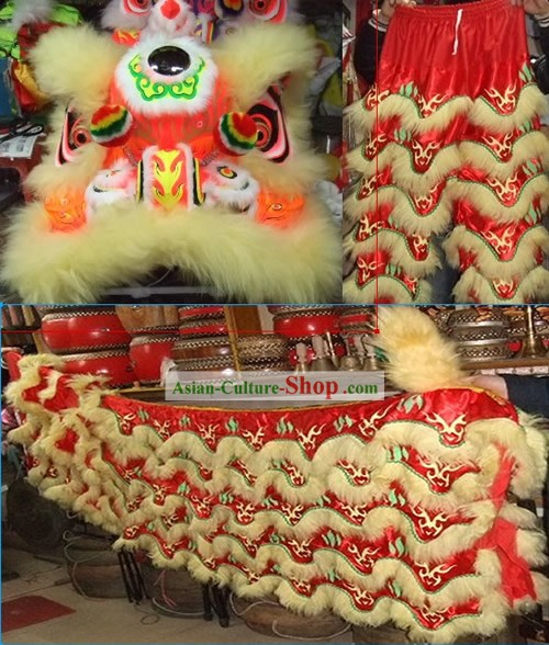 LUMINOUS Chinese Festival Celebration Lion Dance Costume Complete Set
