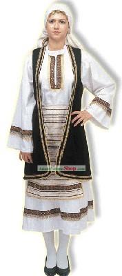 Vestuario griego mujer
