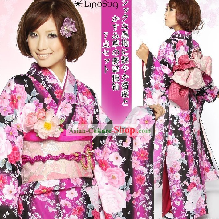 Ancient Japanese Female Dress Complete Set