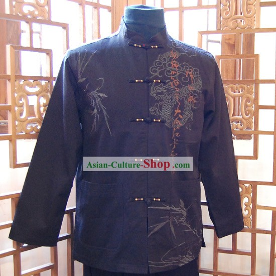 Chinese Classic Traditional Mandarin Blouse for Man