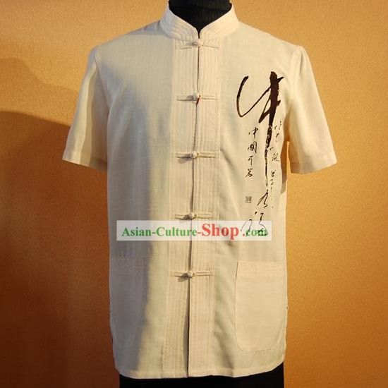 Chinese Traditional Calligraphy Shirt for Men