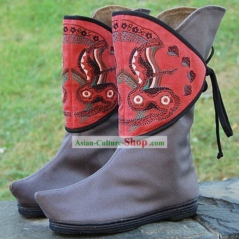 Traditional Chinese Ethnic Long Boots