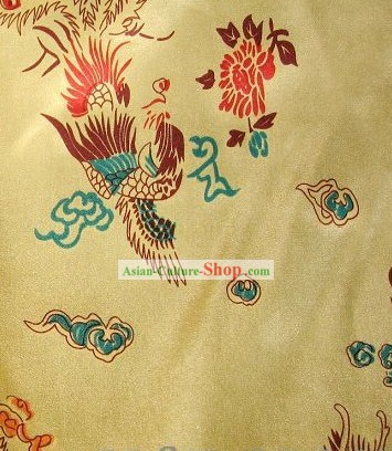 Traditional Chinese Dragon Phoenix Silk Fabric