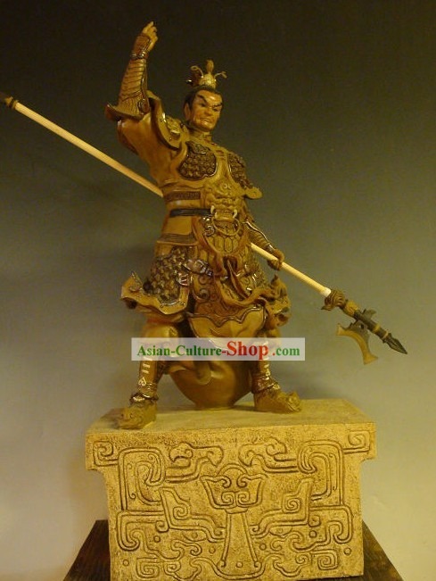 Three Kingdoms Shiwan Ceramic Sculpture Figurine