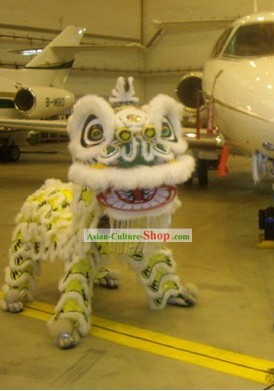 Unique Design Luminous Long Wool Lion Dance Costume Complete Set