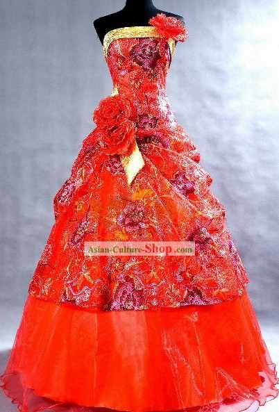Mandarin Lucky Red Wedding Veil for Brides
