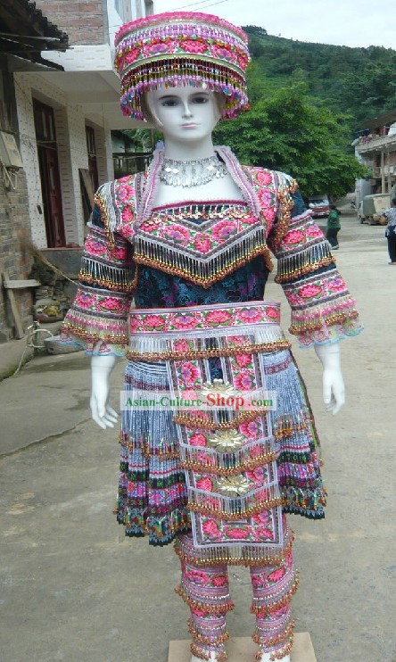 Traditional Miao Ethnic Clothing and Hat