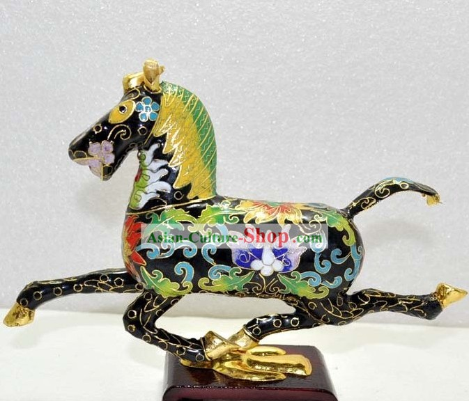 Chinese Classic Cloisonne Running Horse