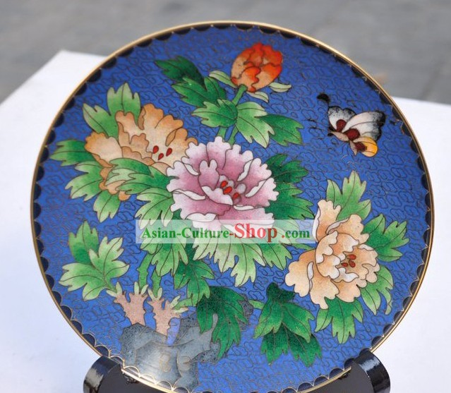 Chinese Classic Cloisonne Decoration Plate