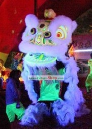 Professional Fluorescent Competition and Performance Luminous Lion Dance Costume Complete Set