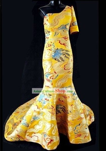 Chinese Royal Wedding Evening Dress
