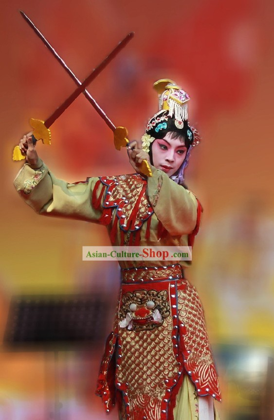 Peking Opera Yu Lin Jia Ba Wang Bie Ji Costume Set for Women