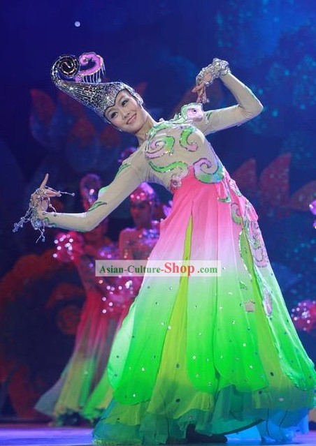 Chinese Flower Leading Dancer Costume Complete Set