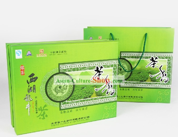 Chinese Zhang Yiyuan Supreme Xi Hu Longjing Tea Leaf in Gift Package
