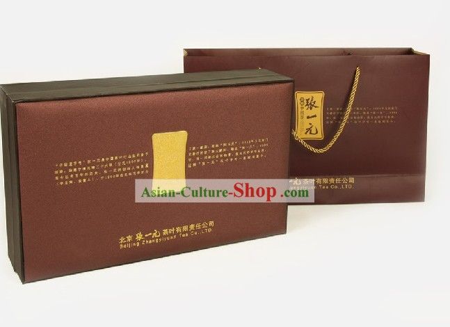 Chinese Zhang Yiyuan Zhanhong Longjing Tieguanyin and Flower Tea in Gift Package