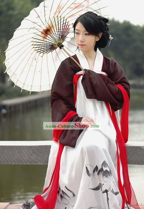Traditional Chinese Tang Dynasty Clothing Full Set for Women