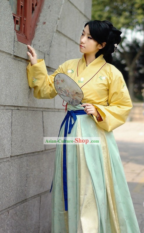 Ancient Chinese Handmaiden Costumes Full Set