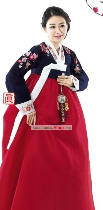 Traditional Korean Wedding Ceremony Mothers Hanbok Clothes
