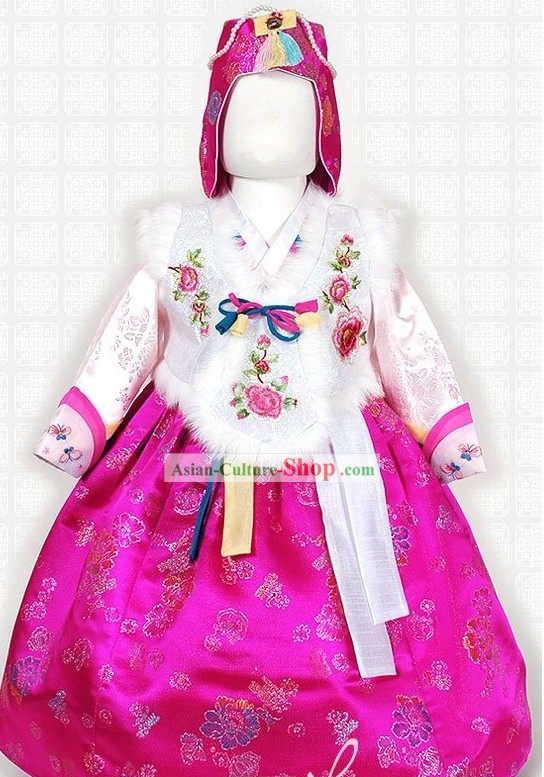 Traditional Korean New Year Festival Celebration Ceremonial Hanbok for Kids