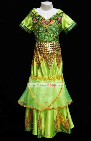 Traditional National Thailand Costume Complete Set