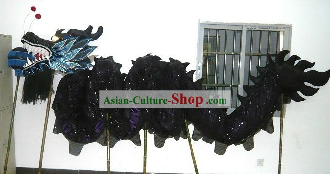 Black Peking Dragon Head and Dance Body Tail Complete Set