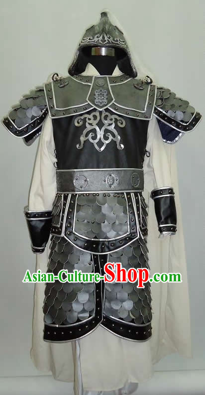 Three Kingdoms Zhou Yu Zhao Yun General Armor Costumes and Helmet Complete Set