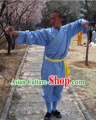 Traditional Chinese Henan Shaolin Martial Arts Monk Uniform for Men